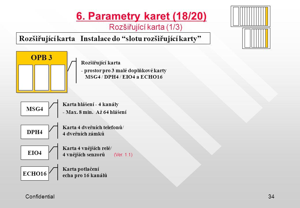 6. Parametry karet (18/20) Rozšiřující karta (1/3)