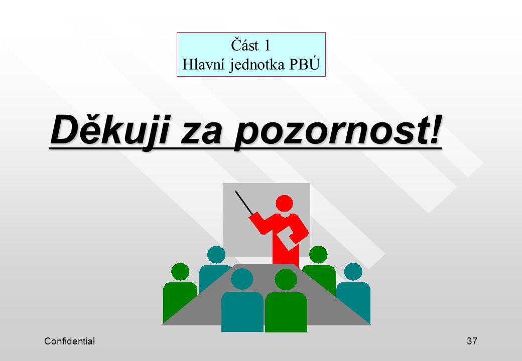 Část 1 Hlavní jednotka PBÚ
