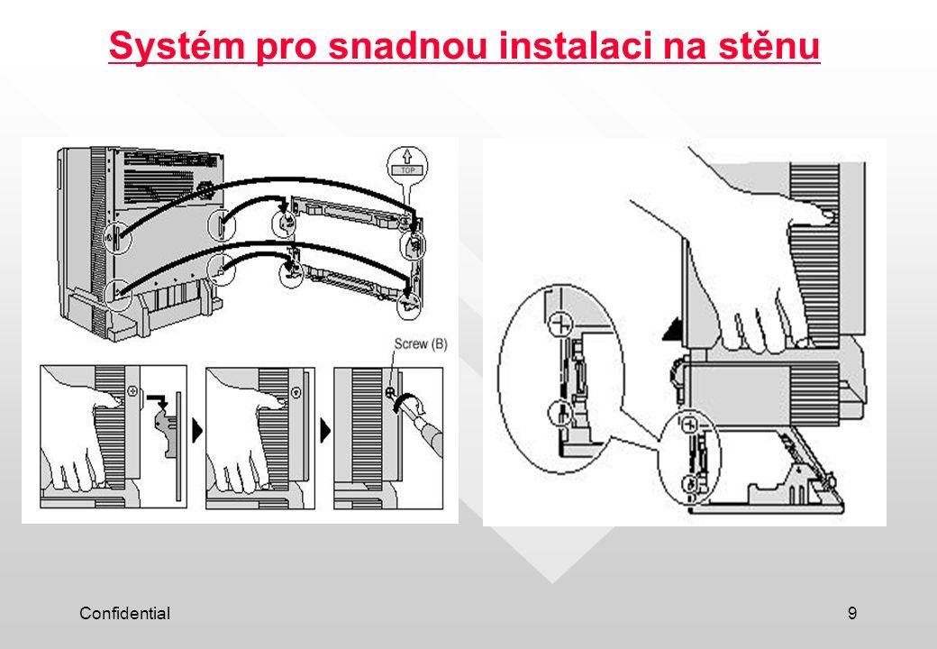 Systém pro snadnou instalaci na stěnu