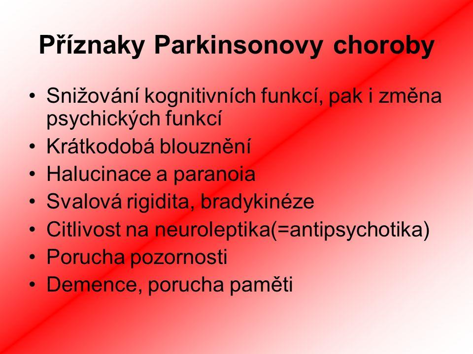 Příznaky Parkinsonovy choroby