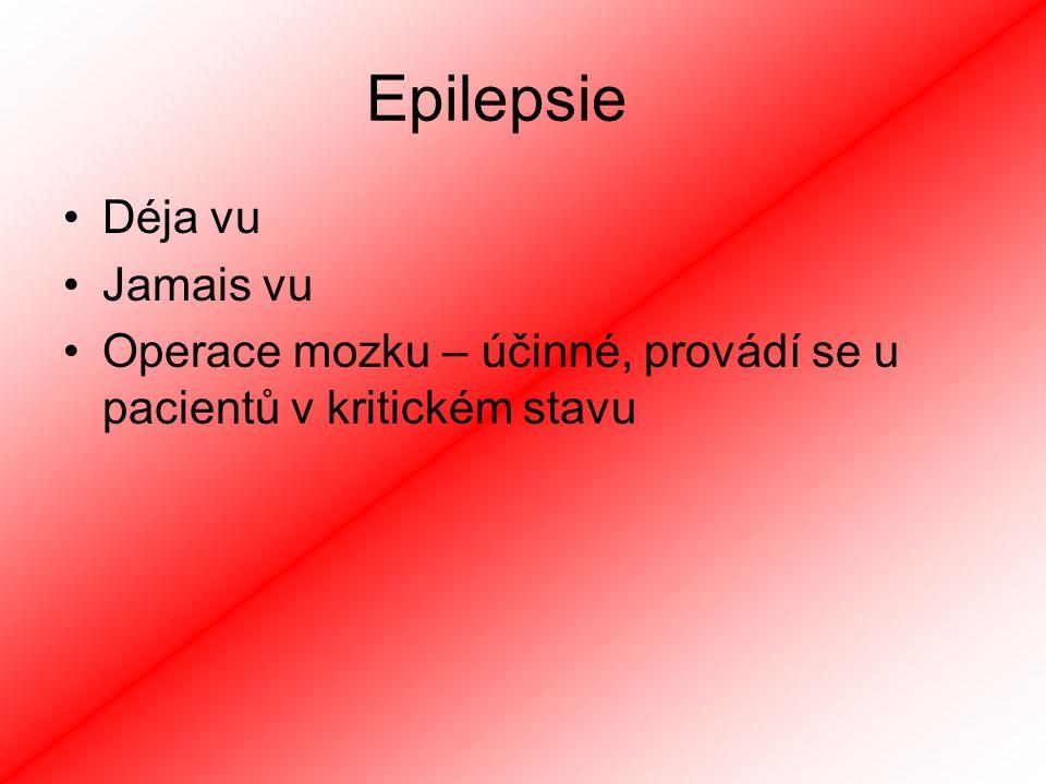 Epilepsie Déja vu Jamais vu