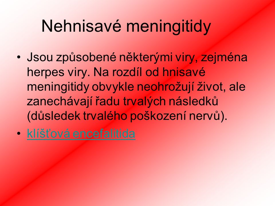 Nehnisavé meningitidy
