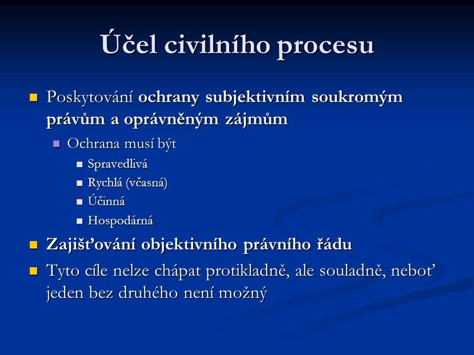 Účel civilního procesu