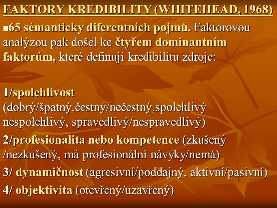 FAKTORY KREDIBILITY (WHITEHEAD, 1968)