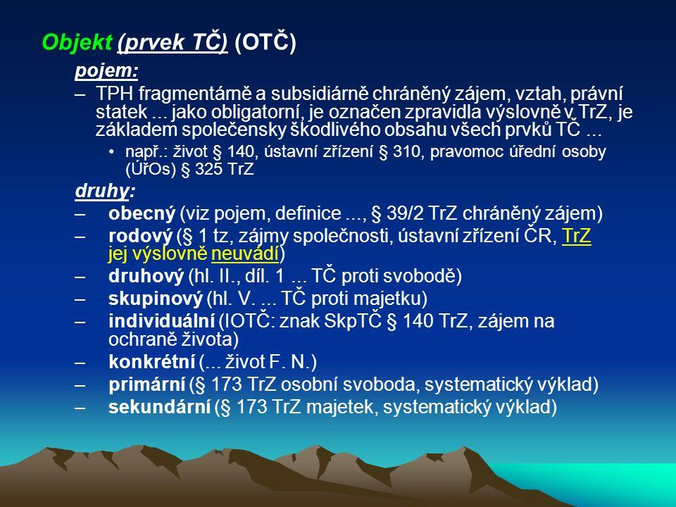 Objekt (prvek TČ) (OTČ)