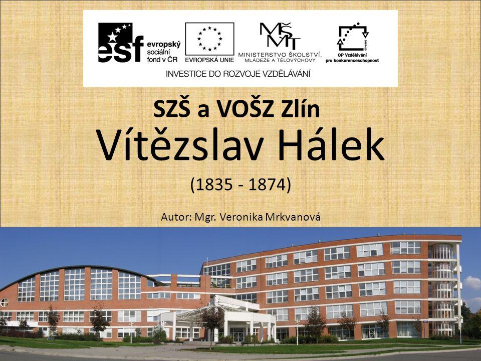 Vítězslav Hálek (1835 - 1874) Autor: Mgr. Veronika Mrkvanová