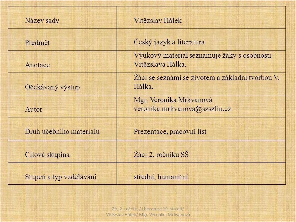 Český jazyk a literatura Anotace
