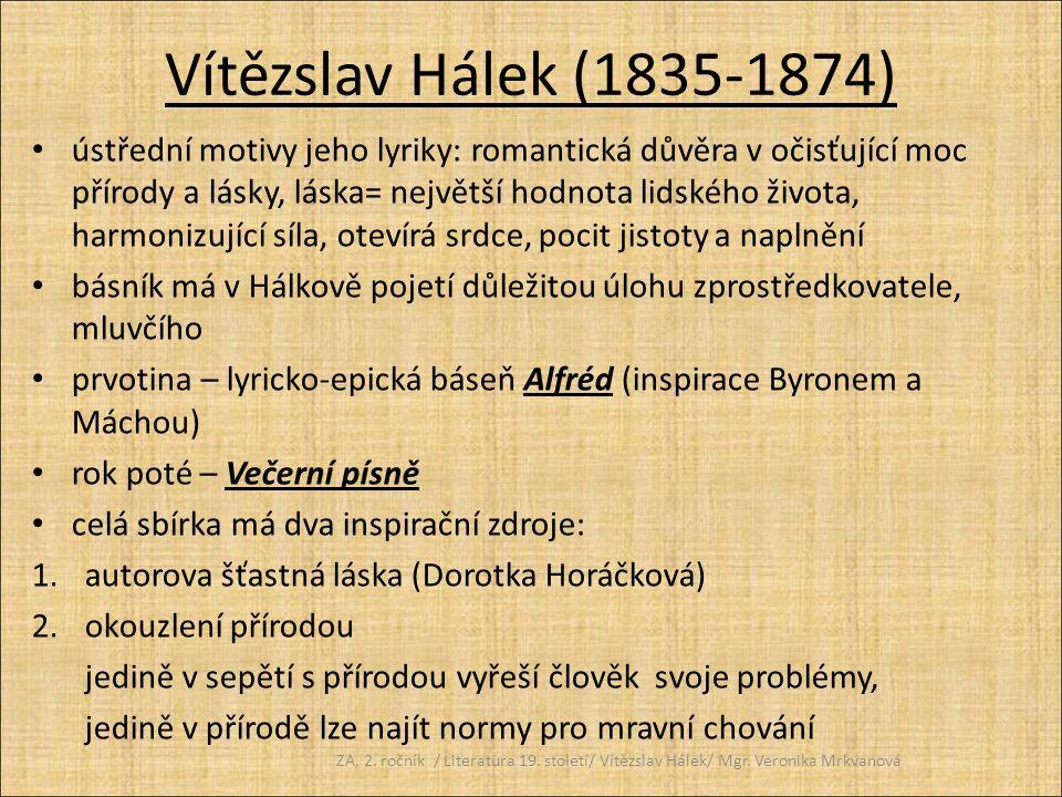 Vítězslav Hálek (1835-1874)
