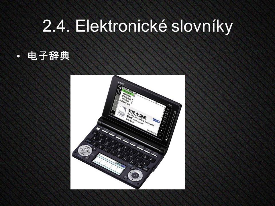 2.4. Elektronické slovníky