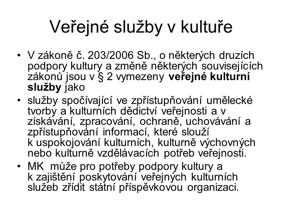 Veřejné služby v kultuře