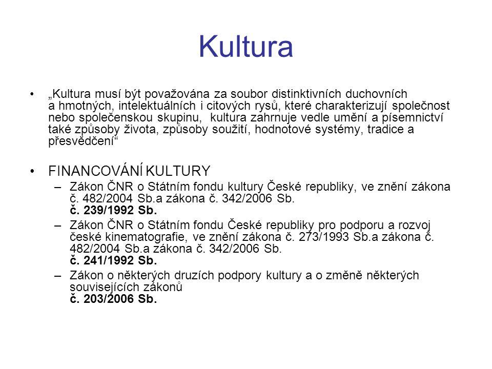 Kultura FINANCOVÁNÍ KULTURY