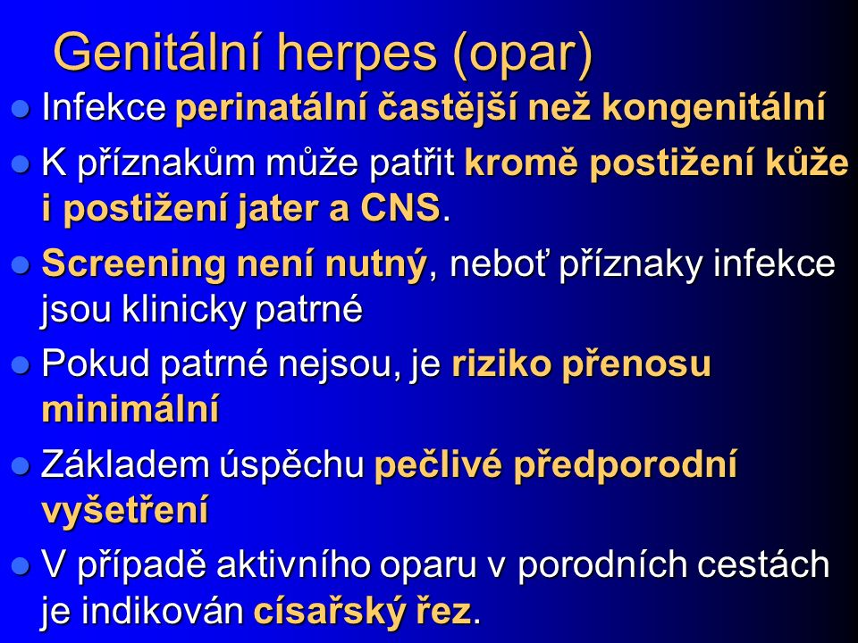 Genitální herpes (opar)