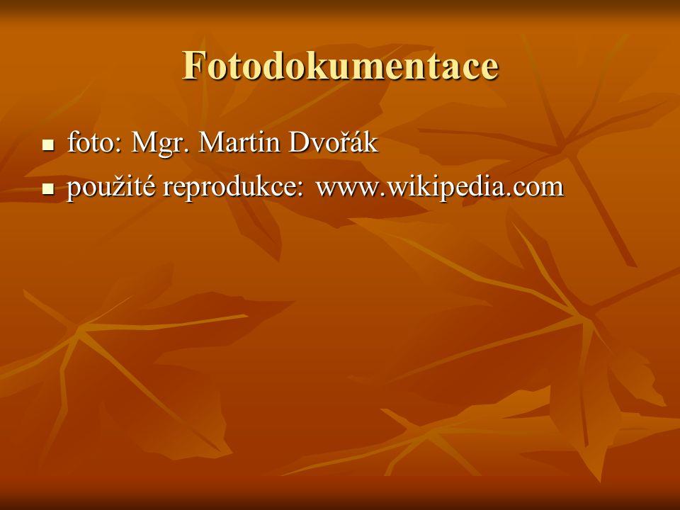 Fotodokumentace foto: Mgr. Martin Dvořák