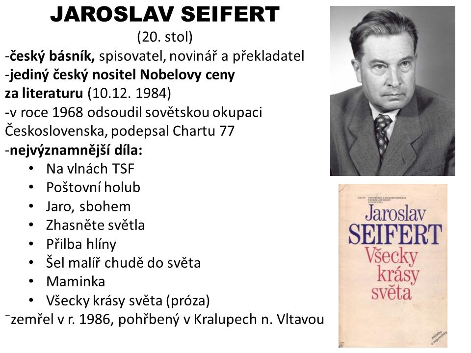 JAROSLAV SEIFERT (20. stol)