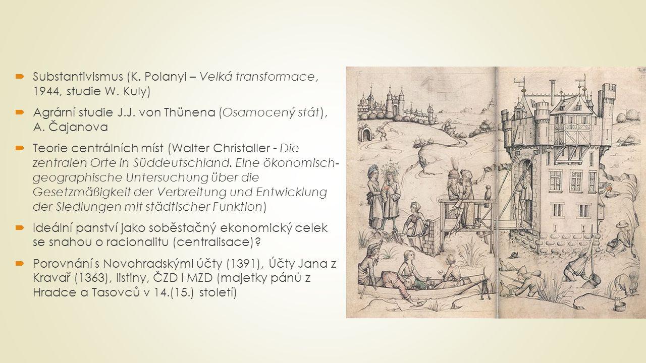 Substantivismus (K. Polanyi – Velká transformace, 1944, studie W. Kuly)