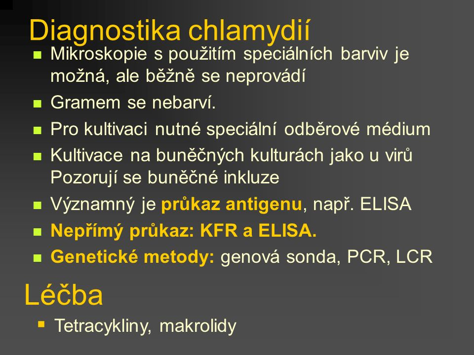 Diagnostika chlamydií