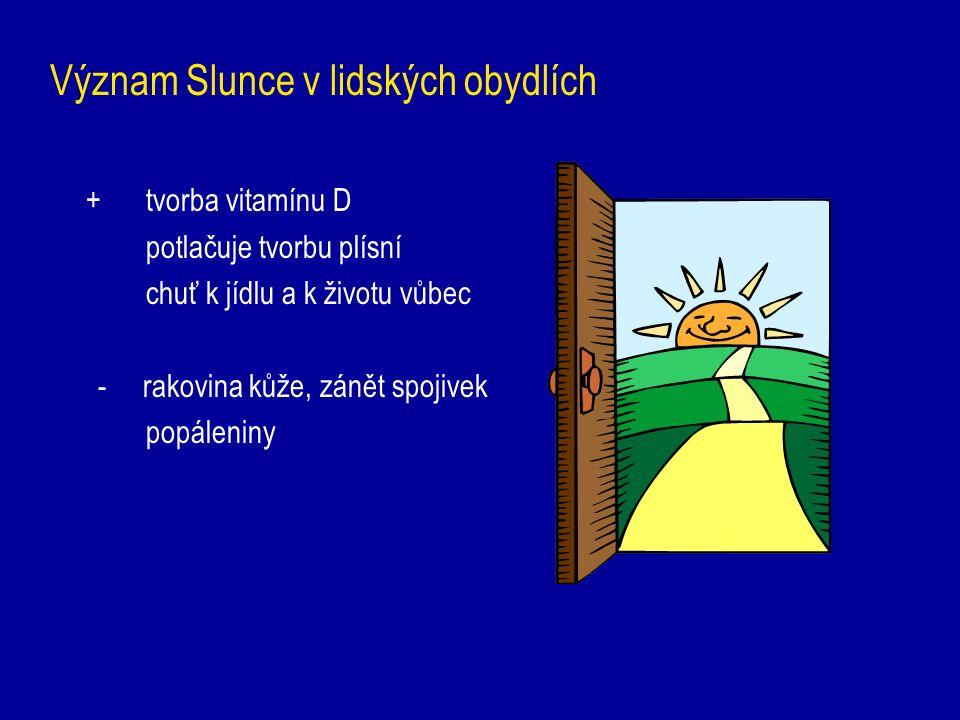 Význam Slunce v lidských obydlích