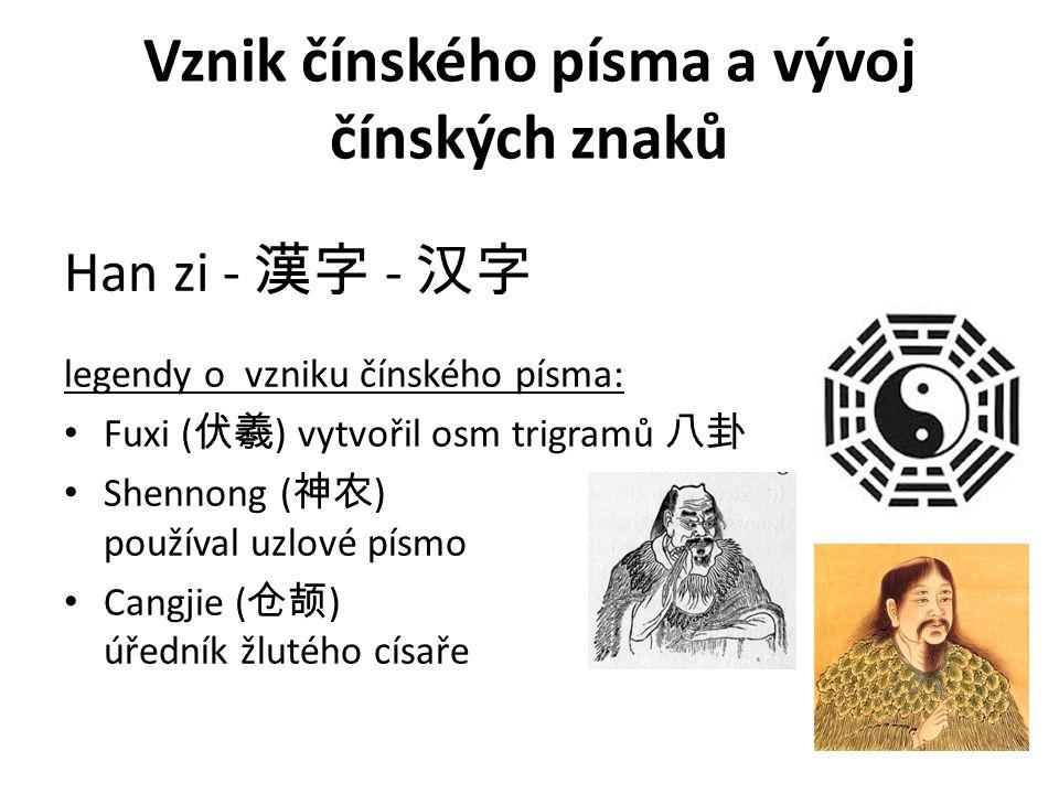 Vznik čínského písma a vývoj čínských znaků