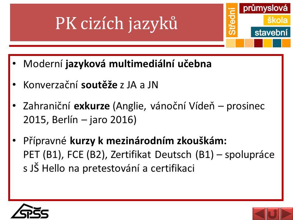 PK cizích jazyků Moderní jazyková multimediální učebna
