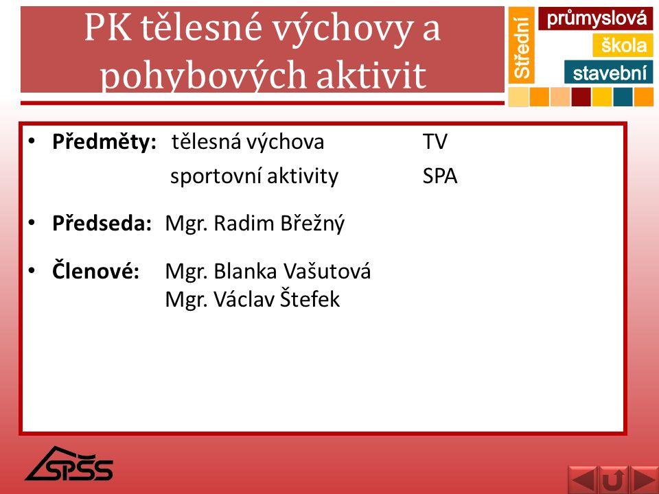 PK tělesné výchovy a pohybových aktivit