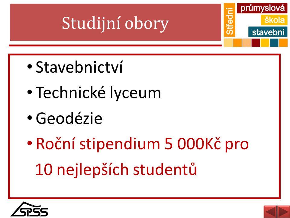 Studijní obory Stavebnictví. Technické lyceum. Geodézie.