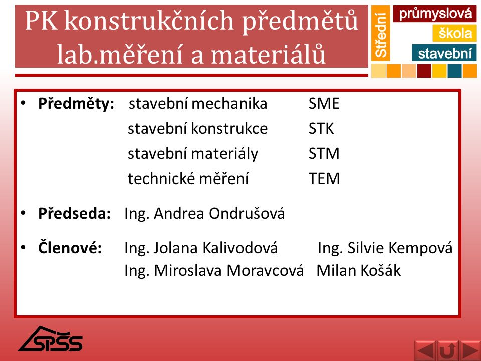 PK konstrukčních předmětů lab.měření a materiálů