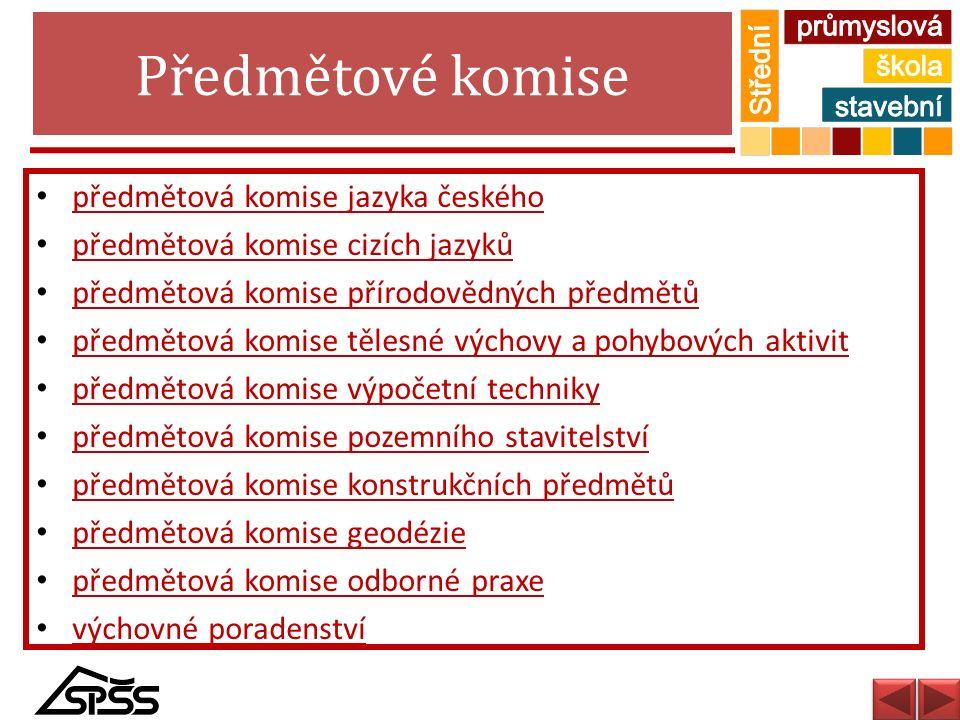 Předmětové komise předmětová komise jazyka českého
