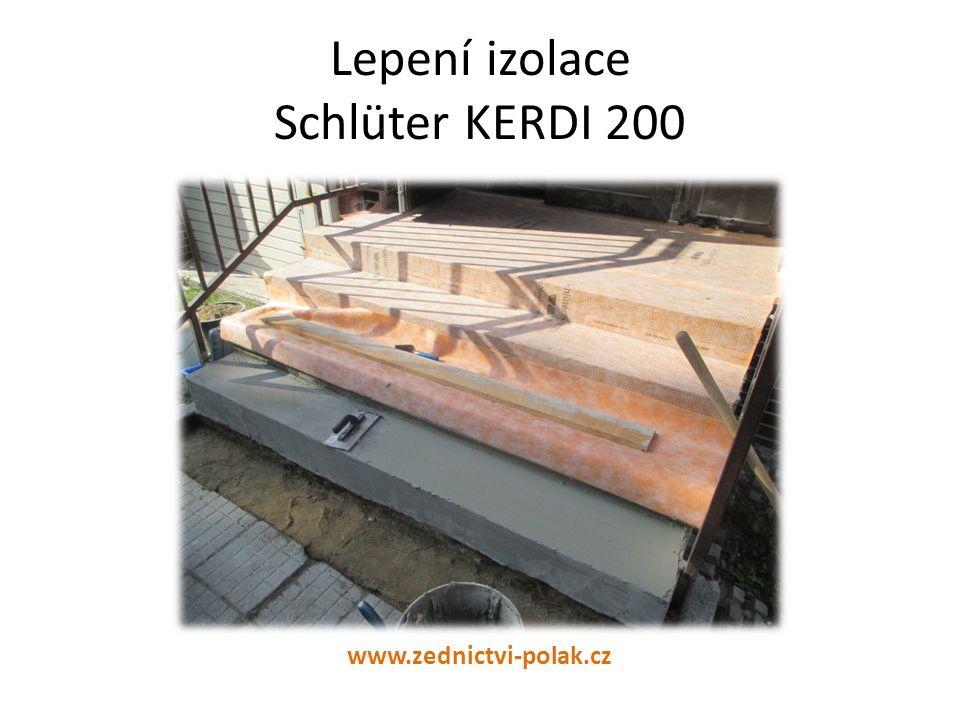 Lepení izolace Schlüter KERDI 200