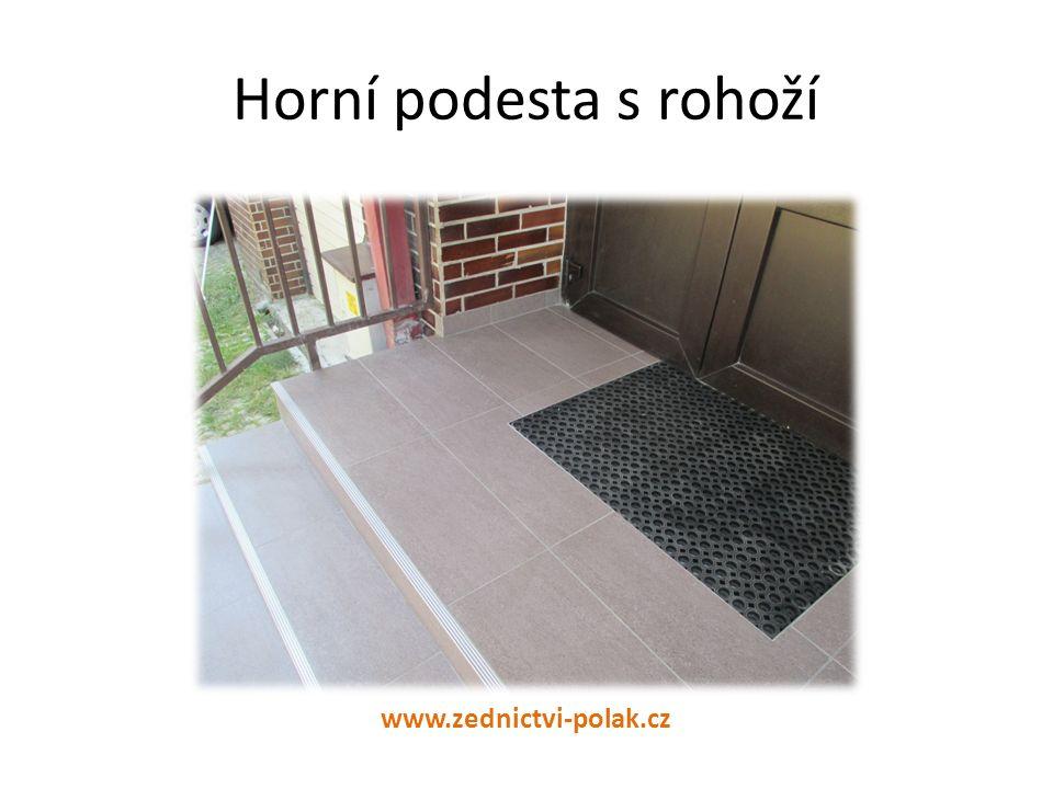 Horní podesta s rohoží www.zednictvi-polak.cz