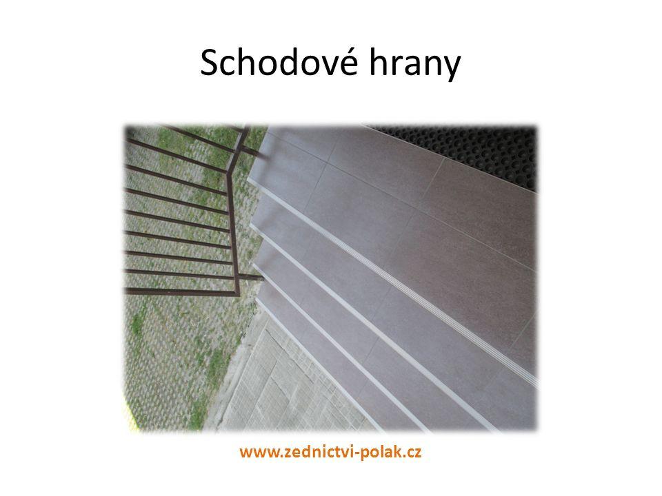 Schodové hrany www.zednictvi-polak.cz