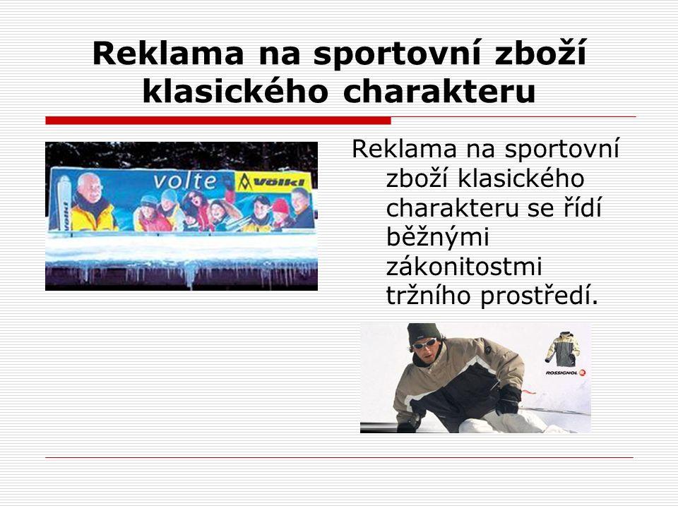 Reklama na sportovní zboží klasického charakteru