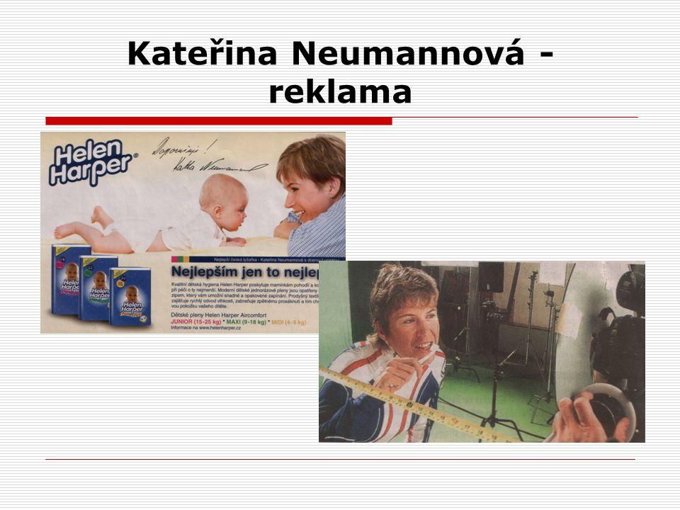 Kateřina Neumannová - reklama