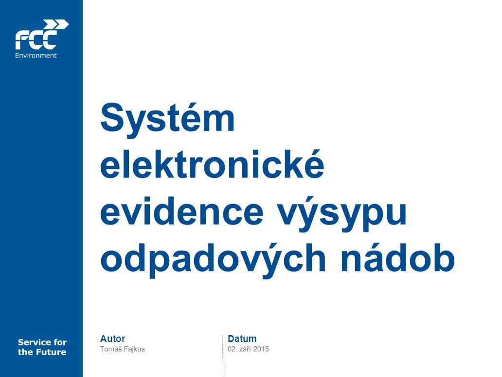 Systém elektronické evidence výsypu odpadových nádob