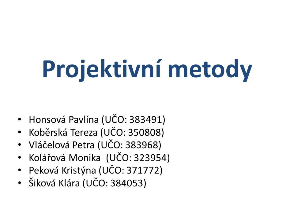 Projektivní metody Honsová Pavlína (UČO: 383491)