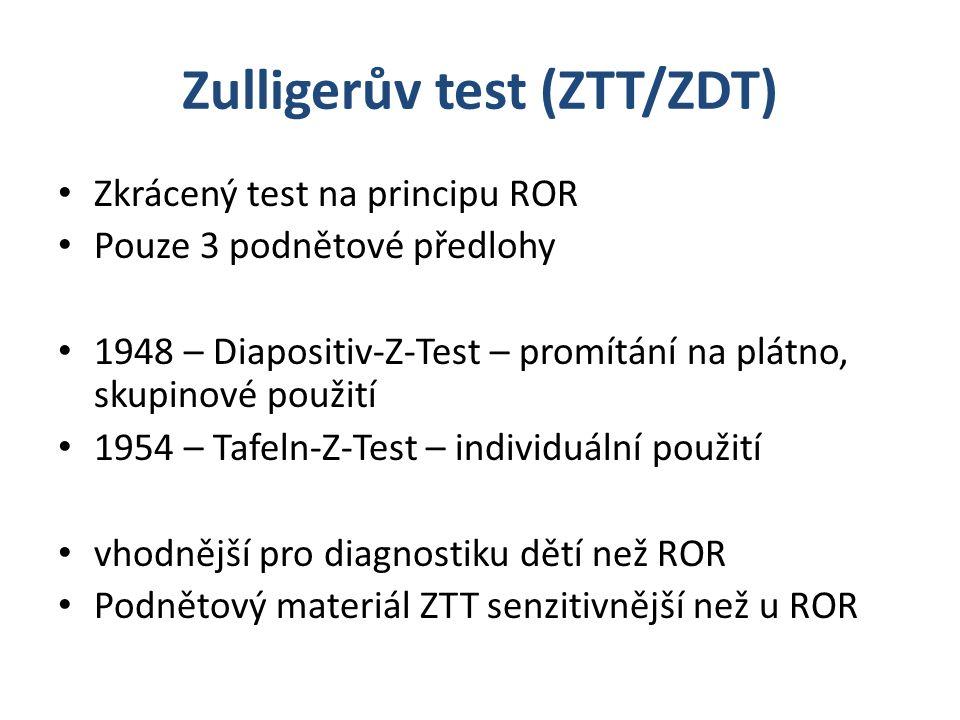 Zulligerův test (ZTT/ZDT)