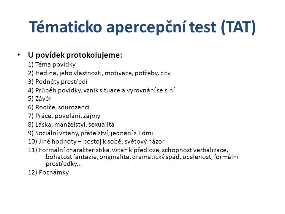 Tématicko apercepční test (TAT)