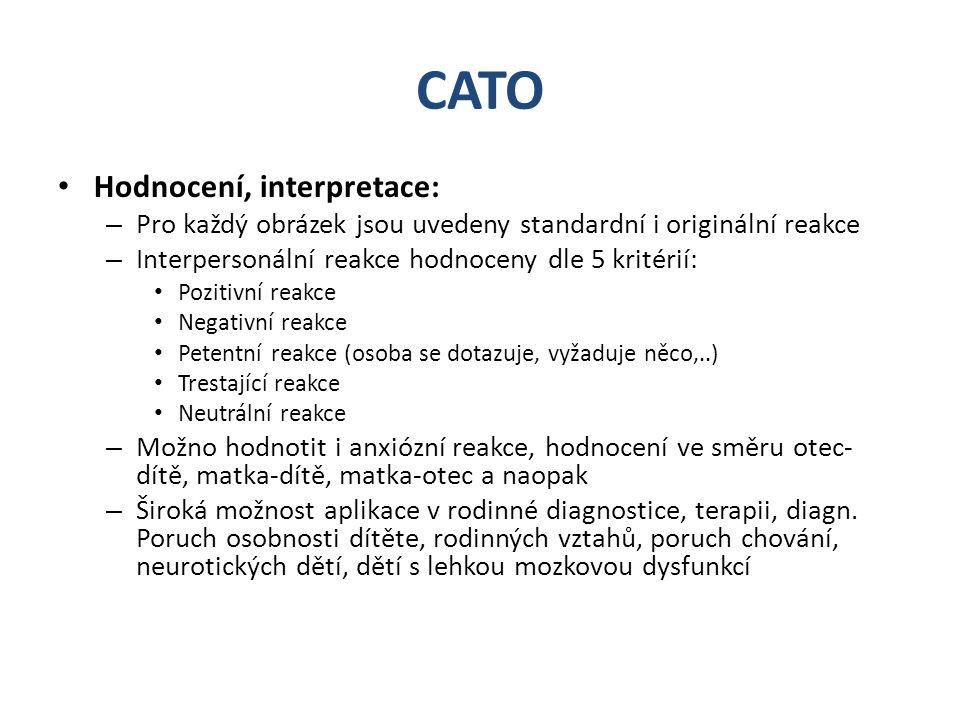 CATO Hodnocení, interpretace: