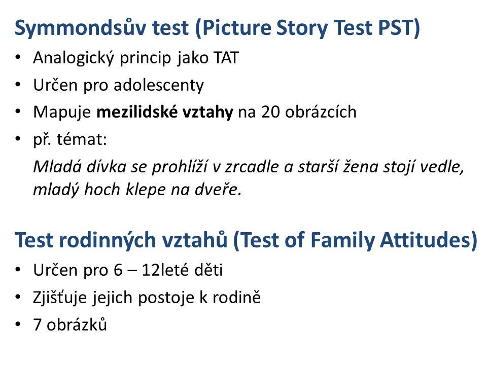 Symmondsův test (Picture Story Test PST)
