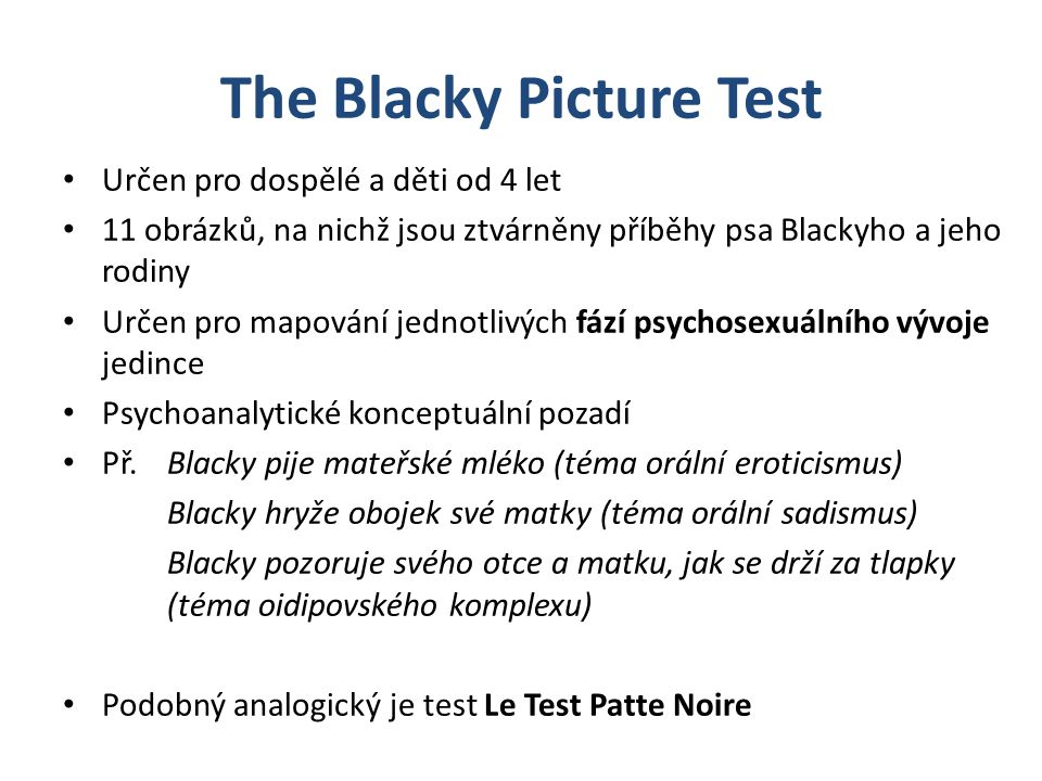 The Blacky Picture Test