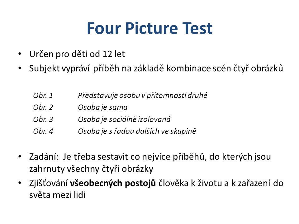 Four Picture Test Určen pro děti od 12 let