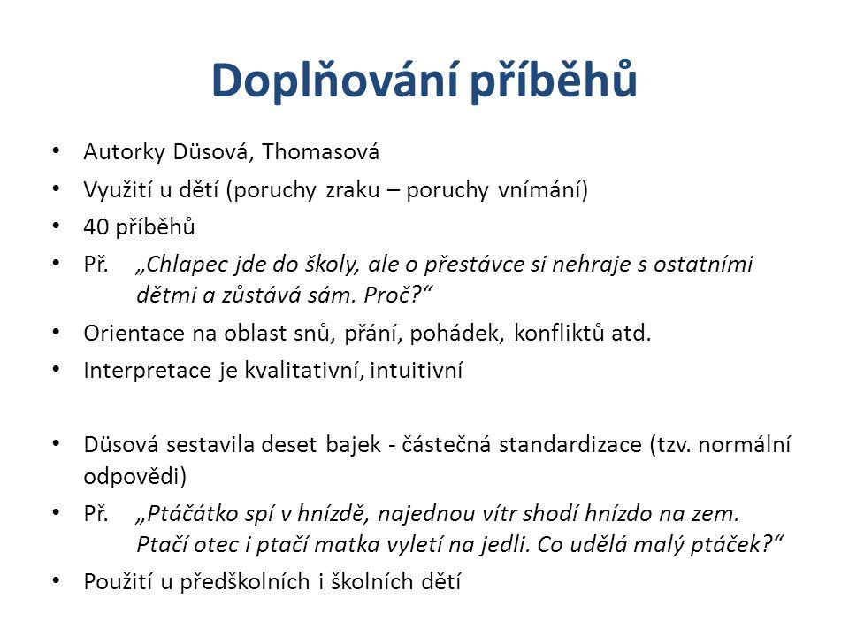 Doplňování příběhů Autorky Düsová, Thomasová
