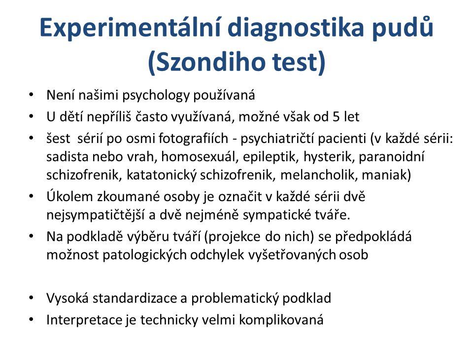 Experimentální diagnostika pudů (Szondiho test)