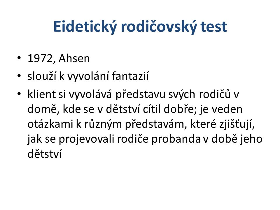 Eidetický rodičovský test
