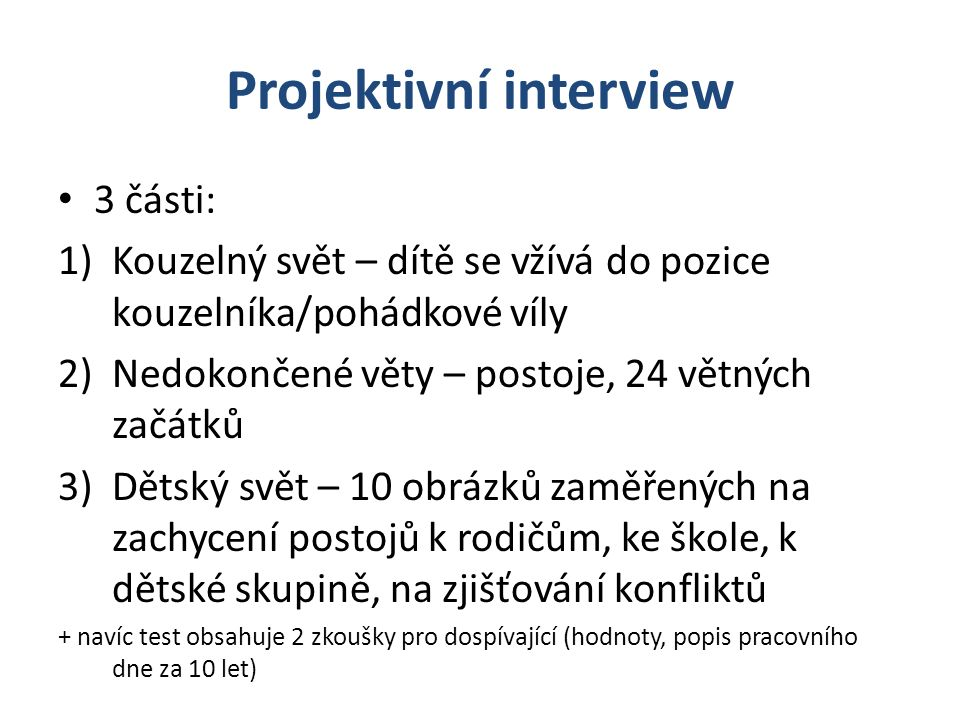 Projektivní interview