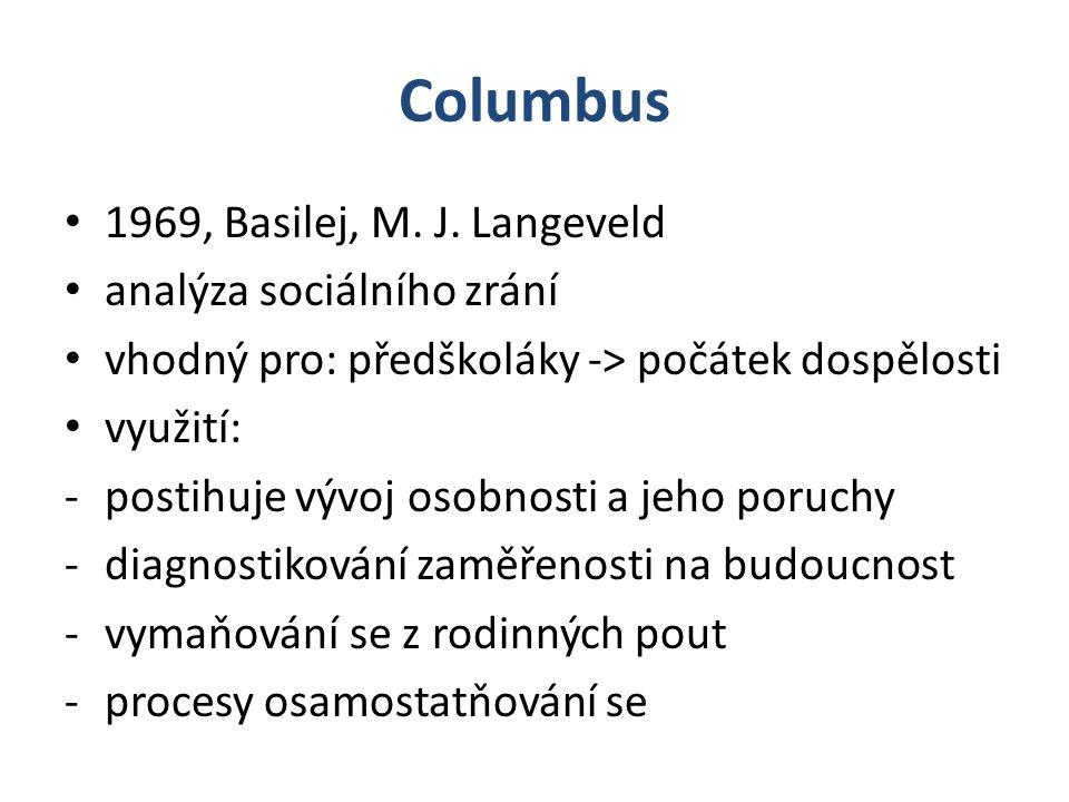 Columbus 1969, Basilej, M. J. Langeveld analýza sociálního zrání