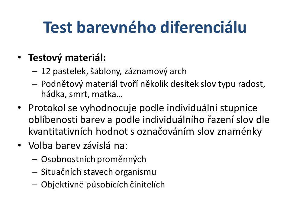 Test barevného diferenciálu