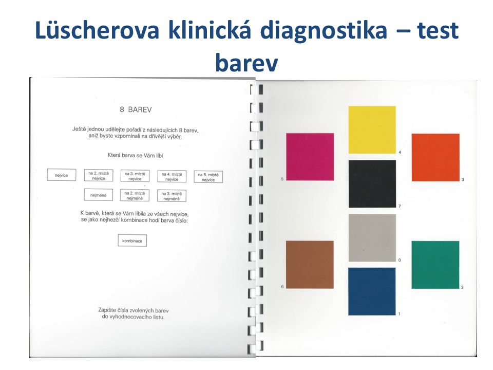 Lüscherova klinická diagnostika – test barev
