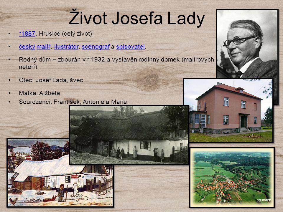 Život Josefa Lady *1887, Hrusice (celý život)