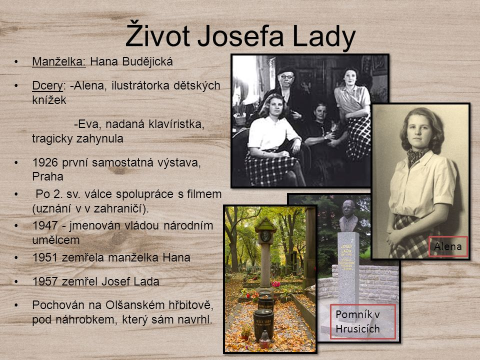 Život Josefa Lady Manželka: Hana Budějická