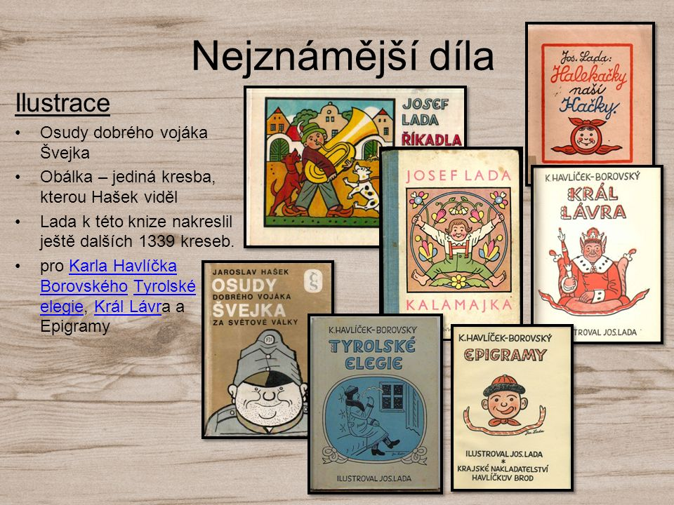 Nejznámější díla Ilustrace Osudy dobrého vojáka Švejka